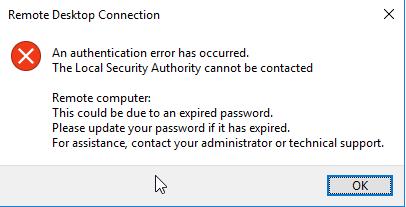 آموزش رفع خطای اتصال به سرور مجازی ویندوز Remote Desktop An Authentication Error has Occurred.CredSSP